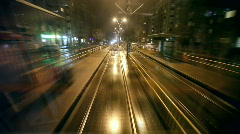 Tram Rear Window View Stock Footage