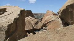 Pueblo Bonito 7 - Chaco Canyon - stock footage