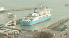 Ship Dover Reversing 1 Stock Footage