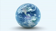 Planet earth rotating on white background. Loopable Stock Footage