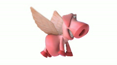 Flying pig - stock footage