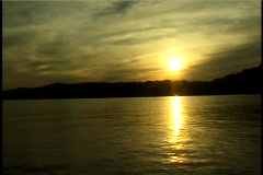Sunset on the Ohio River Stock Footage