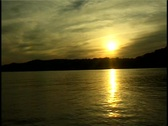 Stock Video Footage of Sunset on the Ohio River