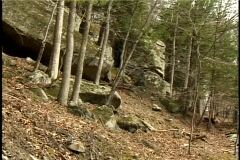 Small cliff like rock scenery Stock Footage