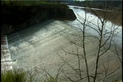 Water Running Over Dam Stock Footage