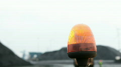 Close up of flashing light Stock Footage