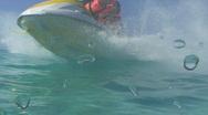 Jet ski passing camera Stock Footage