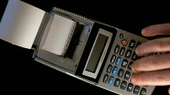 Calculator Time Lapse 2 Stock Footage