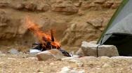 Camping bonfire 1. Stock Footage
