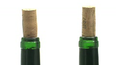 Isolated wine cork in a bottle Stock Footage