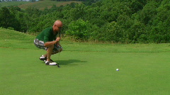 Golfer Sinks Putt 04 Stock Footage