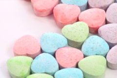 Sweetheart candy heart zoom - NTSC  - stock footage