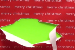 Unwrapping gift green screen V2 - NTSC Stock Footage