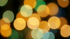 Defocused flashing garland Stock Footage