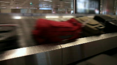 Baggage conveyor at airport  Stock Footage