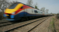 East Midlands Meridian train Leicestershire England Stock Footage