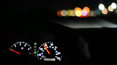 Driving at night - stock footage