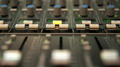 Audio Mixer with Moving Faders - stock footage