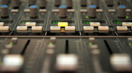 Stock Video Footage of Audio Mixer with Moving Faders