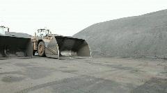 Pan of loaders  Stock Footage