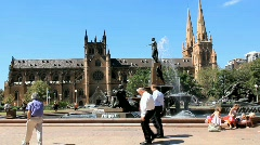 St.Mary's Cathedral Hyde Park Sydney - stock footage
