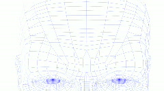 Close up of face of wireman which turns Stock Footage