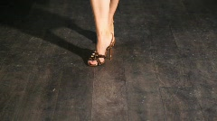 feet in shoes of dancing woman - stock footage