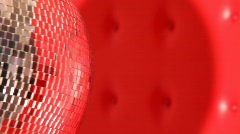 Rotating mirror disco ball in left side of frame Stock Footage