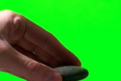 Stacking Zen rocks green screen  V2 - NTSC Stock Footage