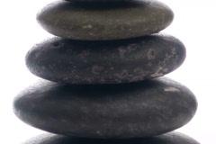 Zen rocks with bow zoom - NTSC Stock Footage