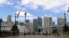 Monorail Sydney 5 Stock Footage