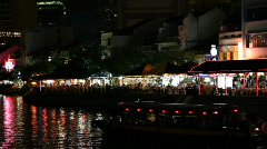 Boat Quay - stock footage
