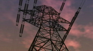Electricity pylon against the sky Stock Footage