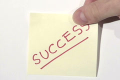 SUCCESS post it note - NTSC Stock Footage