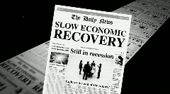 Slow Economic Recovery Stock Footage