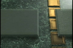 0534 Green Marble with gold blocks background  Stock Footage