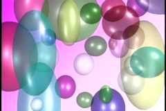 0533 Balloons on pink  Stock Footage