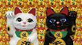Beckoning Cat 2 wb ua HD Footage
