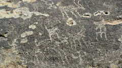 Ancient Rock Carving  Stock Footage