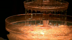 Tabletop water fountain Stock Footage