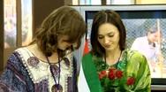 Three beautiful girls Stock Footage