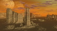 Planet Cliffs Stock Footage
