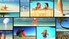 Faraway Vacation Travel Montage Stock Footage