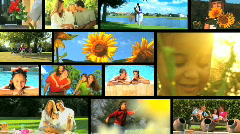 Outdoor Summertime Leisure Montage Stock Footage