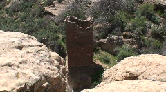 Square Tower 2 - Hovenweep Stock Footage