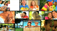 Family Outdoor Lifestyle Montage Stock Footage