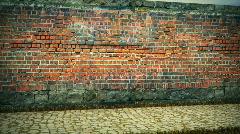 Brick wall loop Stock Footage
