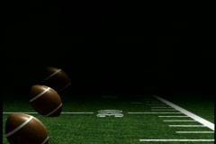 0326 Sports Footballs field background  Stock Footage