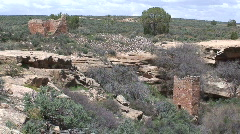 Square Tower 3 - Hovenweep Stock Footage