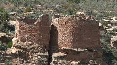 Twin Towers 2 - Hovenweep Stock Footage